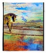 Paradise Sunset Fleece Blanket