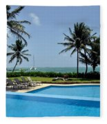 Paradise Vacation Fleece Blanket