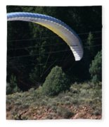 Paragliding Hazards Fleece Blanket