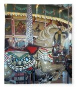 Paragon Carousel Nantasket Beach Fleece Blanket