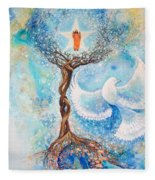 Paramhansa Yogananda - Mist Fleece Blanket