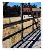 Paramount Ranch Bridge Fleece Blanket