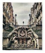 Paris - Statue Fleece Blanket