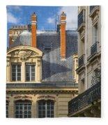 Paris Architecture Fleece Blanket