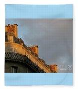 Paris At Sunset Fleece Blanket