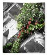 Paris Balcony Fleece Blanket