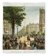 Paris Boulevard, 1859 Fleece Blanket