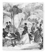 Paris: Boulevard, 1872 Fleece Blanket