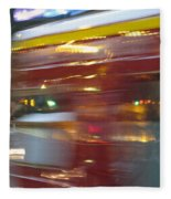 Paris Bus Pont Au Change  Or One Half Step Away From The Hereafter Fleece Blanket