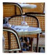 Paris Cafe 2 Fleece Blanket