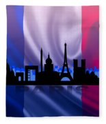 Paris City Fleece Blanket