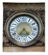 Paris Clocks 1 Fleece Blanket