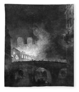 Paris, France Fire, 1773 Fleece Blanket