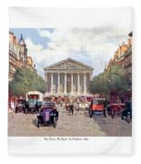 Paris France - The Rue Royal And The Madeleine - 1910 Fleece Blanket