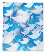 Paris Hilton Twitter Fleece Blanket