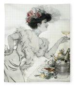Paris Holiday  1904 Fleece Blanket