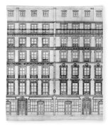 Paris Houses, 1841 Fleece Blanket