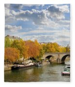 Paris In Autumn Fleece Blanket