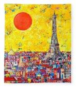 Paris In Sunlight Fleece Blanket
