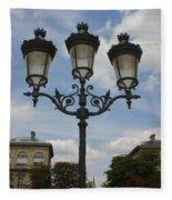 Paris Lamp Post Fleece Blanket