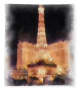Paris Las Vegas Photo Art Fleece Blanket