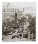 Paris: Les Halles, C1900 Fleece Blanket