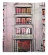 Paris Louis Vuitton Boutique Fashion Shop On The Champs Elysees Fleece Blanket