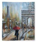 Paris Lovers II Fleece Blanket