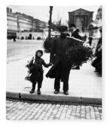 Paris Mistletoe, C1900 Fleece Blanket