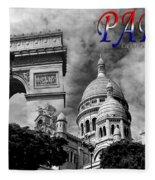 Paris Montage 2 Fleece Blanket