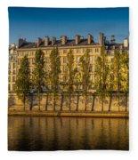 Paris Morning Fleece Blanket