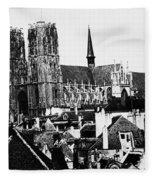 Paris Notre Dame, 1862 Fleece Blanket