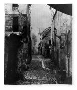 Paris Old Street, C1860 Fleece Blanket