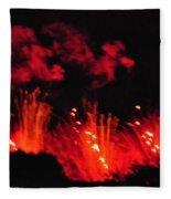 Paris On Fire Fleece Blanket