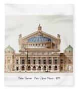 Paris Opera - 1875 Fleece Blanket