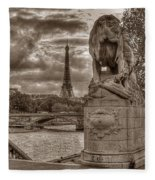 Paris Panorama Fleece Blanket