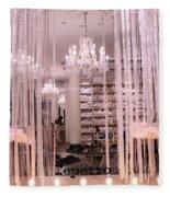 Paris Repetto Ballerina Tutu Shop - Paris Ballerina Dresses Window Display  Fleece Blanket