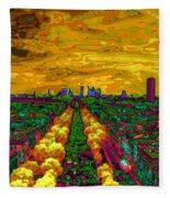 Paris Skyline Pop Art Fleece Blanket