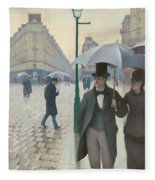 Paris Street In Rainy Weather Fleece Blanket