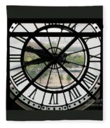Paris Time Fleece Blanket