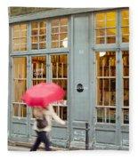 Paris Umbrella Fleece Blanket