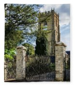 Parish Church Of St Candida And Holy Cross Fleece Blanket