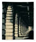 Parisian Rail Arches Fleece Blanket