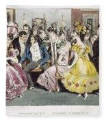 Parisian Salon, 1825 Fleece Blanket