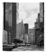 Park Avenue In New York City Fleece Blanket