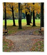 Park Bench Fleece Blanket