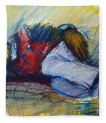 Park Bench Sleeper Fleece Blanket