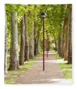 Park Footpath Fleece Blanket