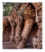 Park Guell Colonnade No1 Unframed Fleece Blanket