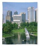 Park In The City, Petronas Twin Towers Fleece Blanket